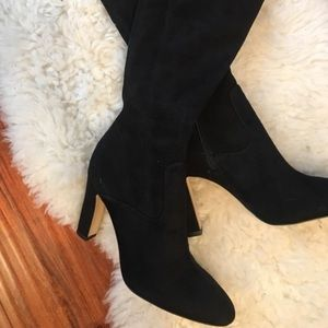 Ivanka Trump Smith over knee high heels boots